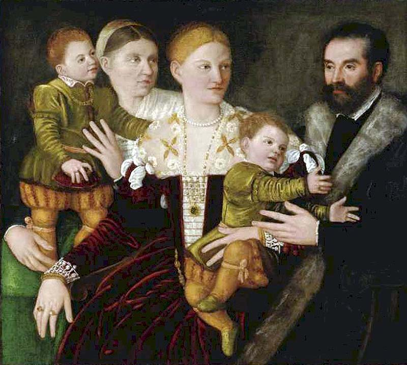 Bernardino Licinio Portrait of a Family