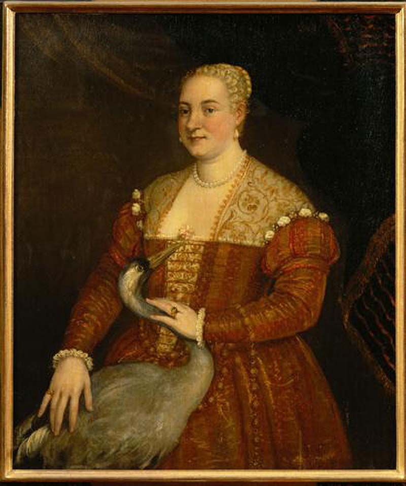 Circle of Veronese Portrait of a Woman with a Heron