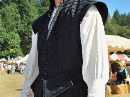 16th century gents Renaissance costume, black doublet