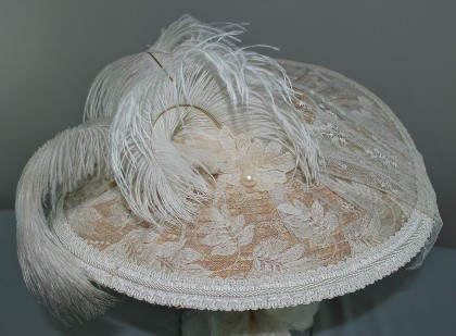 Ivory 18th Century Bergere Hat
