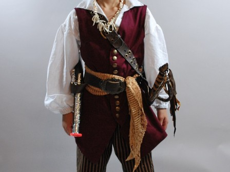 18th century child costume, kid's pirate outfit