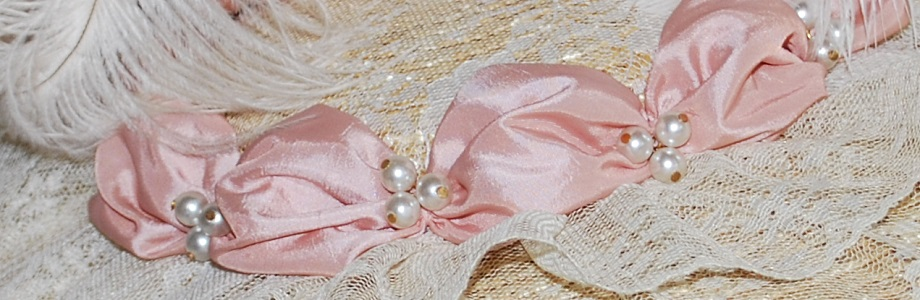 Pink & Cream 18th Century Bergere Hat