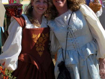 Renaissance Faire Costume, embroidered bodice