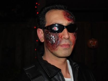 Terminator Costume, glasses with red LED light