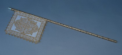Gold & Ivory Venetian Flag Fan