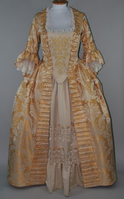 Gold Embroidered 18th Century Gown