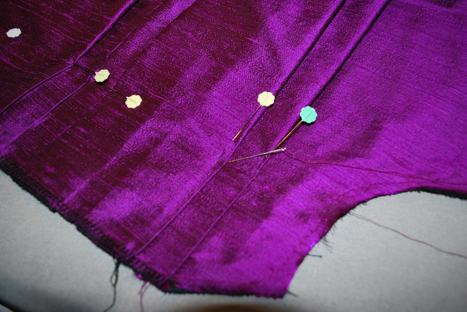 Purple Robe a la Francaise Back Assembly