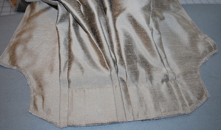 taupe robe a la francaise back asssembly