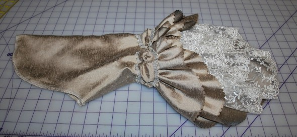 Taupe Robe a la Francaise: Sleeves Done