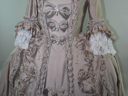 18th Century Rococo Gown Robe a la Francaise Bow Stomacher